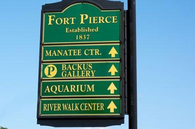 Fort Pierce Florida Road Sign