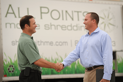 Brian Connelly Shaking Hands With Client
