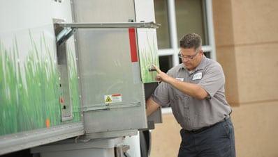 Shred Operator Shredding Paper On Company Premises
