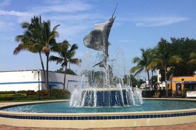 Stuart Florida Sailfish Fountain Landmark